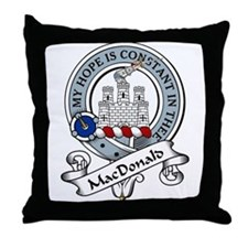 MacDonald Clan Badge Throw Pillow