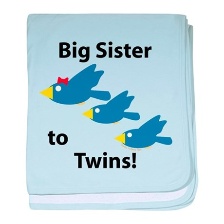 Big Sister to Twins baby blanket