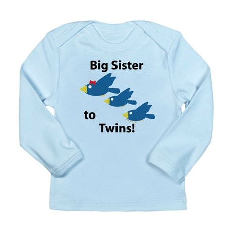 Big Sister to Twins Long Sleeve Infant T-Shirt