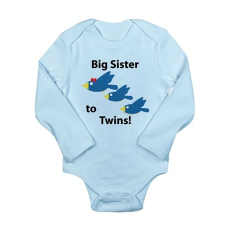 Big Sister to Twins Long Sleeve Infant Bodysuit
