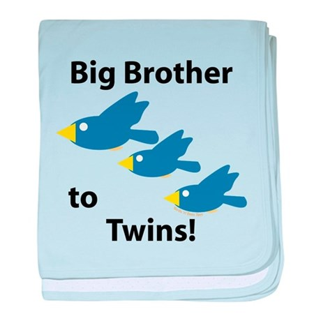 Big Brother to Twins baby blanket