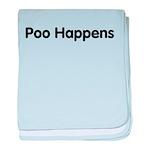 Poo Happens baby blanket