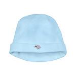 Triplet Bee Pink Flowers baby hat