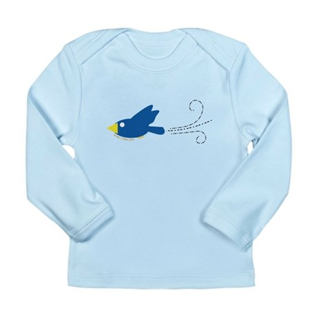Twin A Flying Bird Long Sleeve Infant T-Shirt
