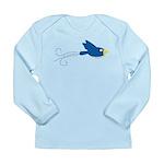 Twin B Flying Bird Long Sleeve Infant T-Shirt