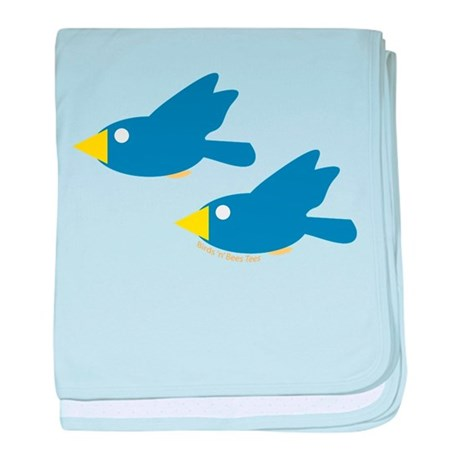 Twin Parent Birds baby blanket
