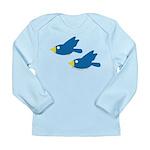 Twin Parent Birds Long Sleeve Infant T-Shirt