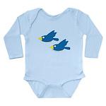 Twin Parent Birds Long Sleeve Infant Bodysuit