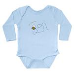 1st Bee Flying Fancy Long Sleeve Infant Bodysuit