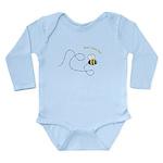 2nd Bee Flying Fancy Long Sleeve Infant Bodysuit