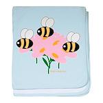 Triplet Bees baby blanket