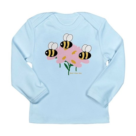 Triplet Bees Long Sleeve Infant T-Shirt