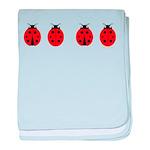 Ladybugs baby blanket