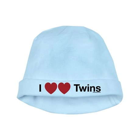 I Love Twins baby hat