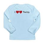 I Love Twins Long Sleeve Infant T-Shirt