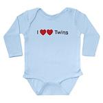 I Love Twins Long Sleeve Infant Bodysuit