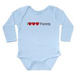 I Love Triplets Long Sleeve Infant Bodysuit