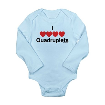 I Love Quadruplets Long Sleeve Infant Bodysuit