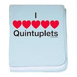 I Love Quintuplets baby blanket
