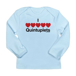 I Love Quintuplets Long Sleeve Infant T-Shirt