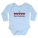 I Love Quintuplets Long Sleeve Infant Bodysuit