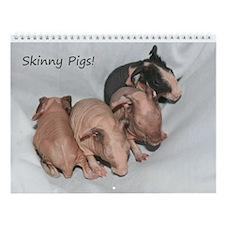 Wall Calendar-Skinny Pigs