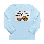 Stays at Grandmas! Long Sleeve Infant T-Shirt