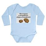 Stays at Grandmas! Long Sleeve Infant Bodysuit