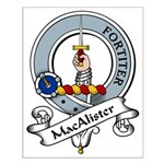 MacAlister Clan Badge Small Poster