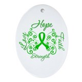 ODA Hope Love Faith Ornament (Oval)