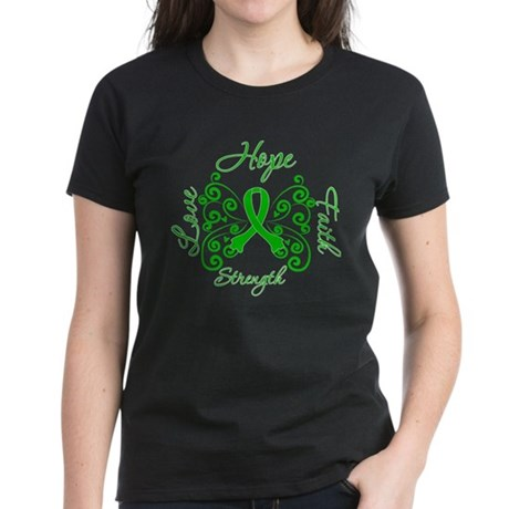 ODA Hope Love Faith Women's Dark T-Shirt