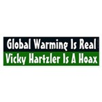 Global Warming & Vicky Hartzler bumper sticker