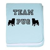 Cute Black pug baby blanket