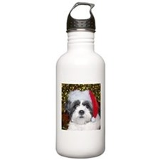 Christmas Shih Tzu Water Bottle