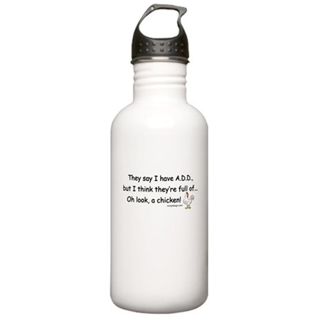 ADD full of Chicken Humor Stainless Water Bottle 1