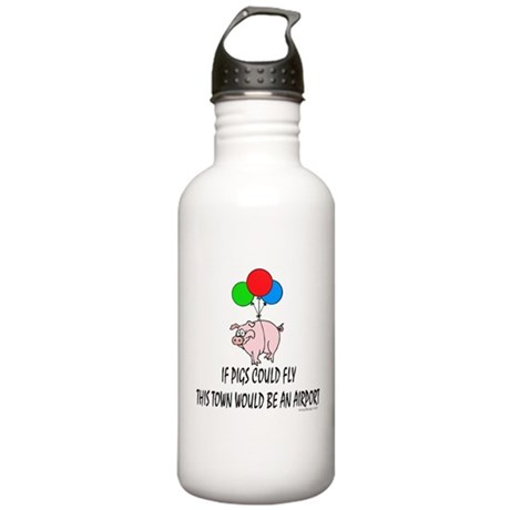 If pigs could fly... Stainless Water Bottle 1.0L