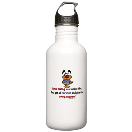 Animal Testing... Stainless Water Bottle 1.0L