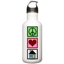 Peace Love Real Estate Water Bottle