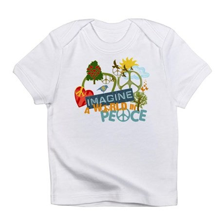 Rainbow Peace Abtract Art Infant T-Shirt