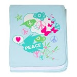 Modern Art Peace Collage baby blanket