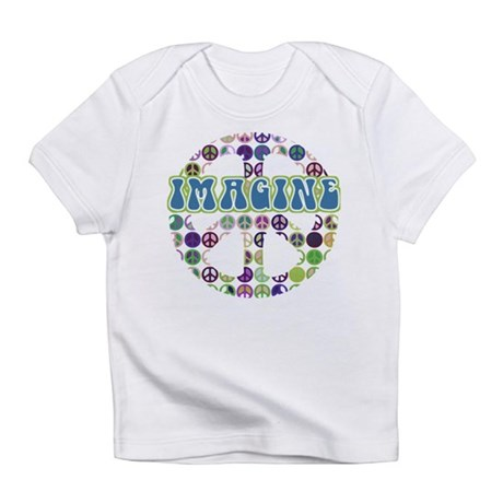 Retro Peace Sign Imagine Infant T-Shirt