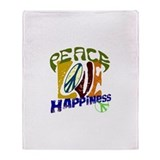Peace Love Happiness #P6 Throw Blanket