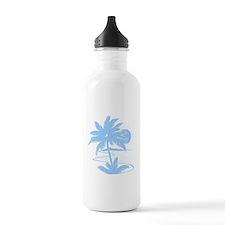 Lt. Blue Palm Beach Silhouett Water Bottle
