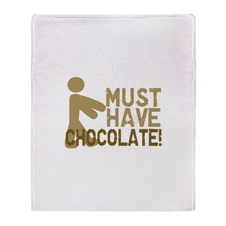 Must Have CHOCOLATE! Zombie Throw Blanket