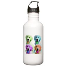 Golden Retriever Warhol Water Bottle