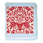 Red Damask Retro baby blanket