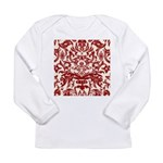 Red Damask Retro Long Sleeve Infant T-Shirt