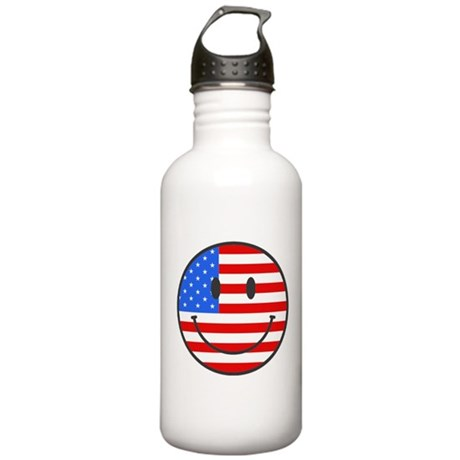 4th Of July Happy Smile Stainless Water Bottle 1.0
