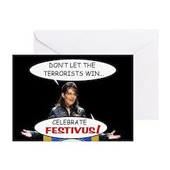 Sarah Palin Festivus Cards (Pk of 10)