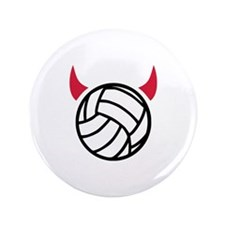"Volleyball devil 3.5"" Button (100 pack)"